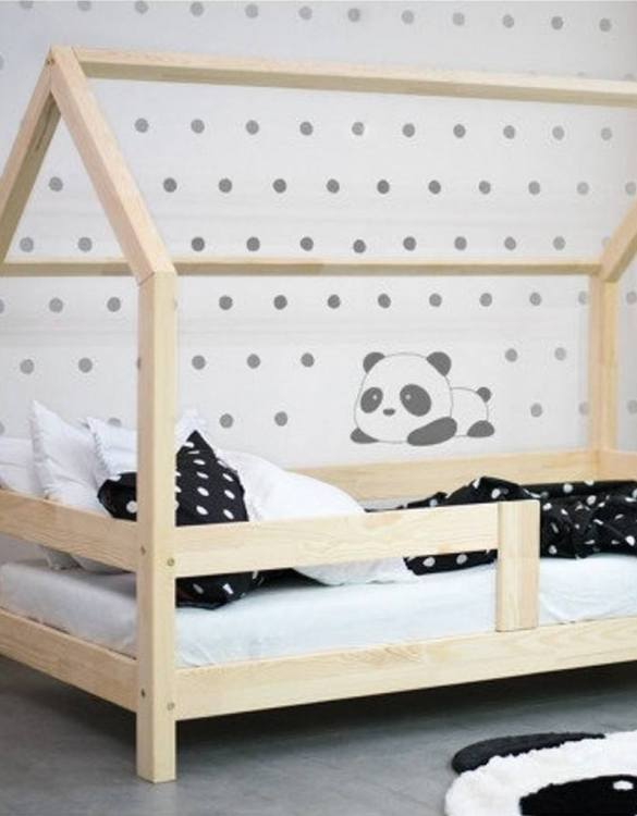 Turn bedtime into a magical adventure with the Children House Bed with Take Off the Safety Barriers. An amazing Montessori bed for children where they can sleep and play.