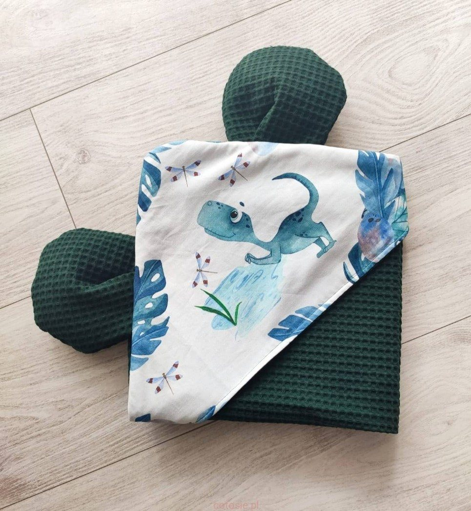 Green Bottle Misio Hooded Baby Towel