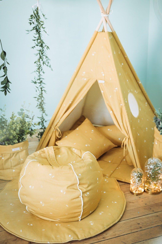 Honey Mustard Children's Bubble Beanbag