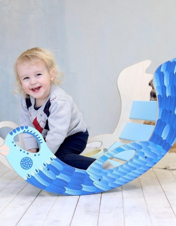 A real educational wooden toy, the Icebird Rocking Toy is perfect for creative and curious toddlers at playtime. This rocking toy could be an ideal starting point for a toddler's healthy development as it offers a lot of excitement and directs children to take joy in movement.