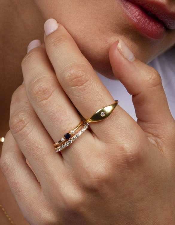 A truly luxurious gift for a friend, or a special treat for yourself, the Loyal Signet Gold Ring is a cool way to show a little love. It would be a perfect anniversary, Christmas or birthday gift.