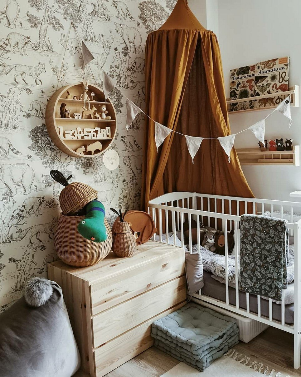 Mustard Linen Children's Bed Canopy