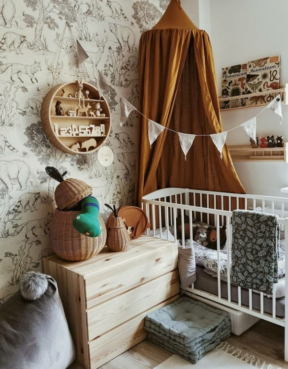 An ideal place to have fun both at home and outdoors, the Mustard Linen Children's Bed Canopy is a great place for your kid to have a lot of fun. Combined with soft and comfy floor mat it will become a perfect and quiet fun corner.