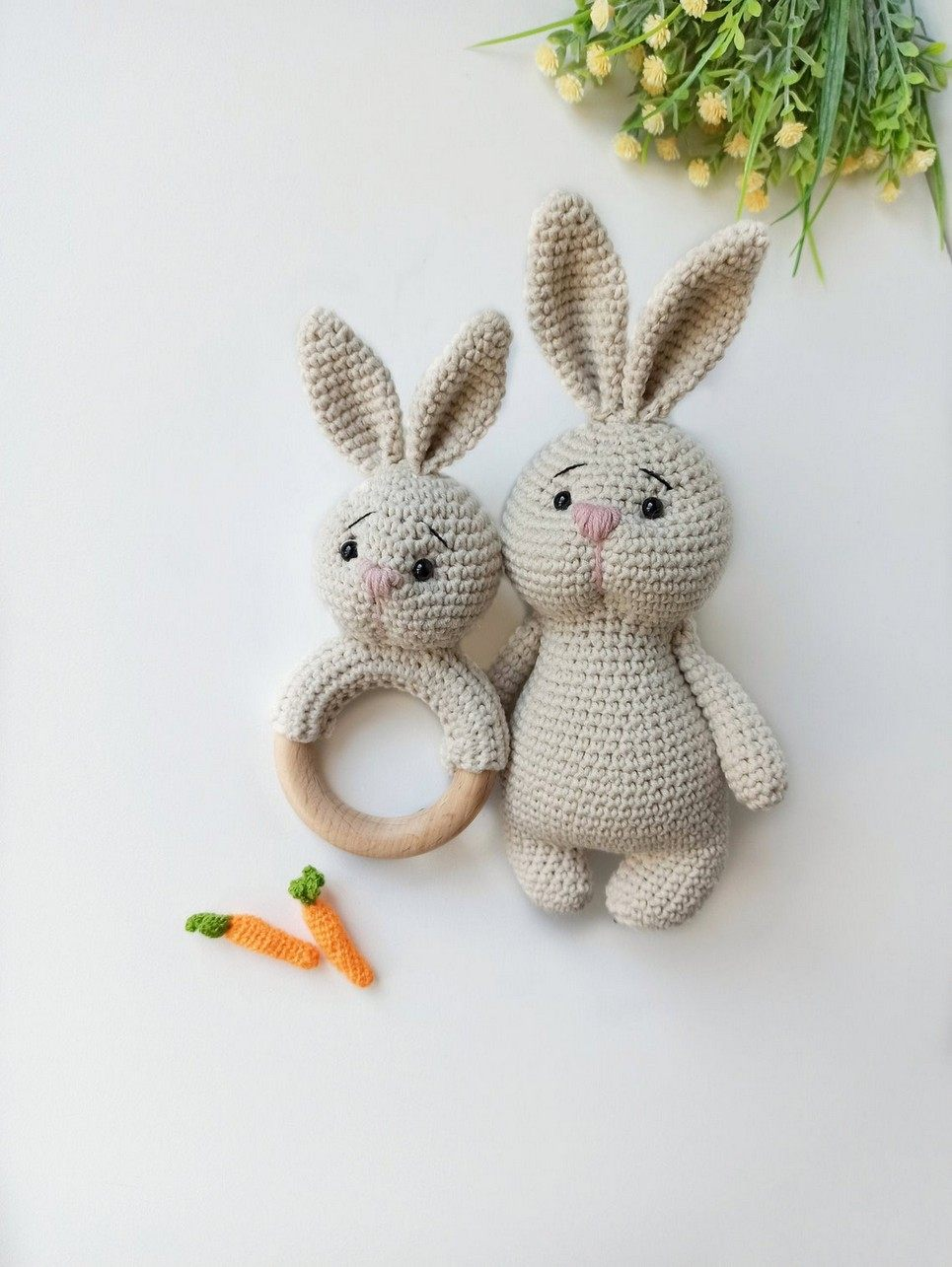 Personalised Cute Bunny Baby Gift Set