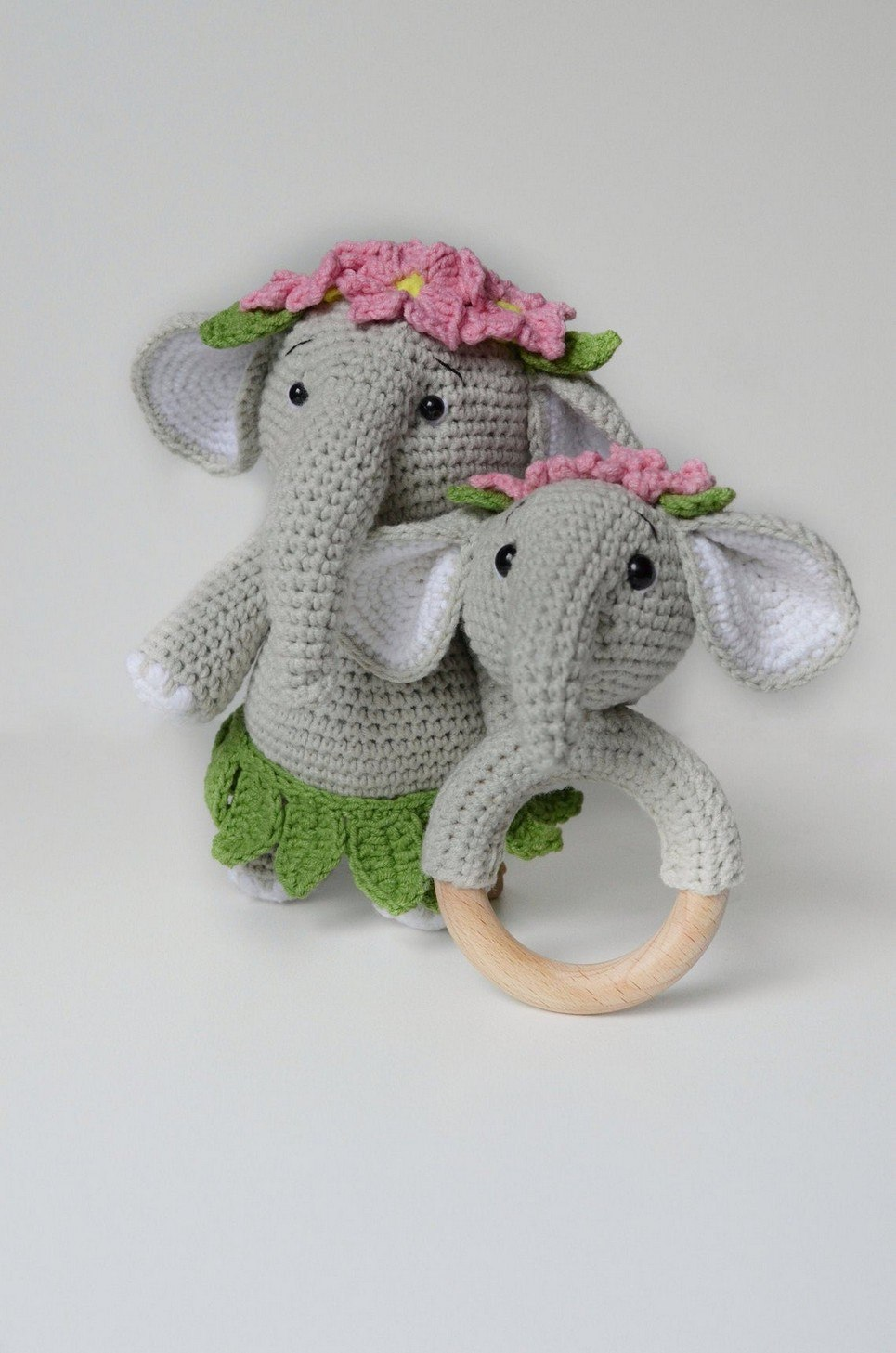 Personalised Grey Elephant Baby Girl Gift Set