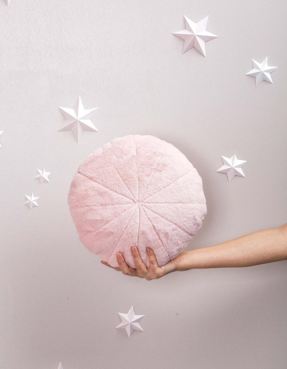 Completely handmade, the Pink Faux Fur Circle Pillow is the perfect gift to welcome the new addition. It's the perfect accessory for your sofa or armchair and with a choice of on-trend colours, you're bound to find a shade to suit your home.