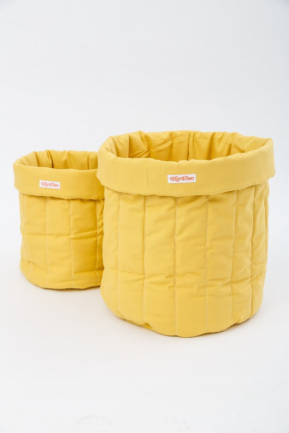 Plain Mustard Toy Storage Bag