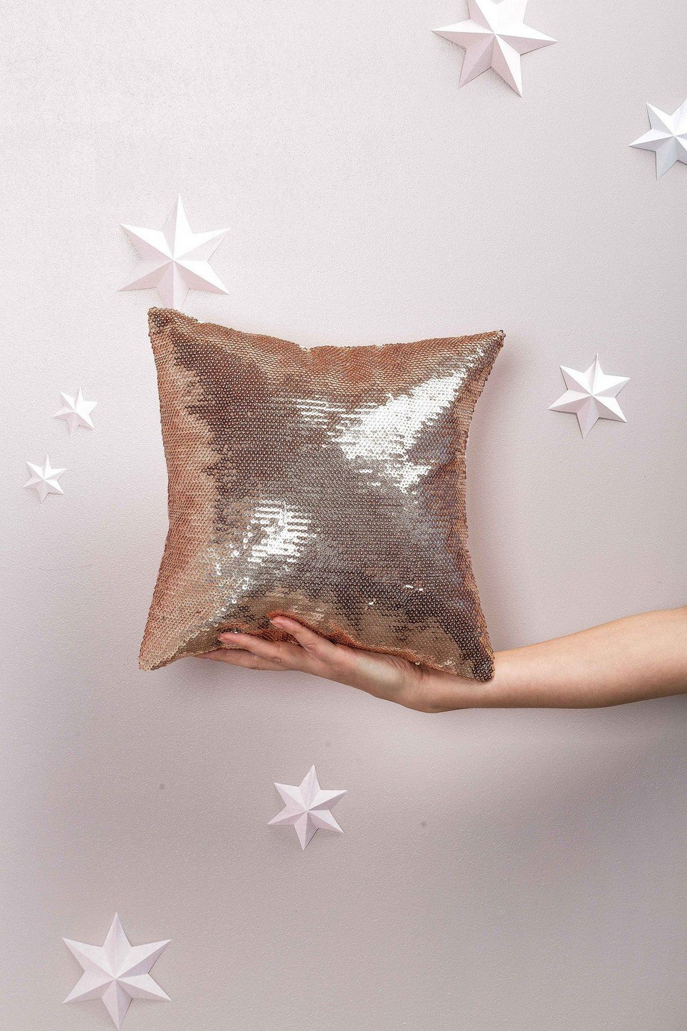 Sequins Square Decorative Pillow