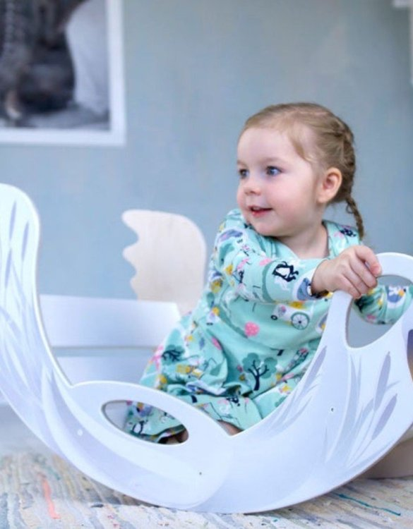 A real educational wooden toy, the Swan Rocking Toy is perfect for creative and curious toddlers at playtime. This rocking toy could be an ideal starting point for a toddler's healthy development as it offers a lot of excitement and directs children to take joy in movement.