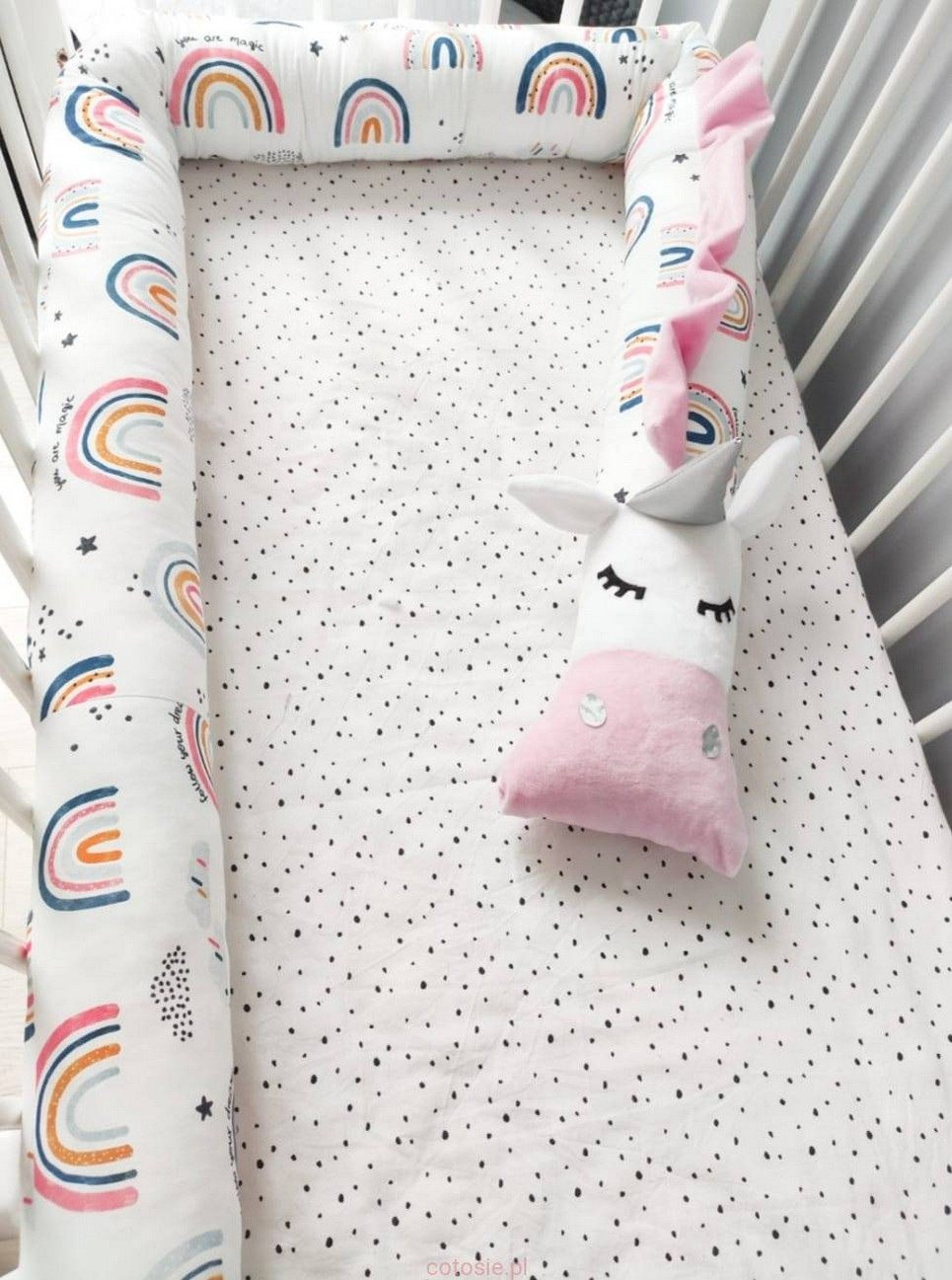 Unicorn Rainboiw Cot Bumper