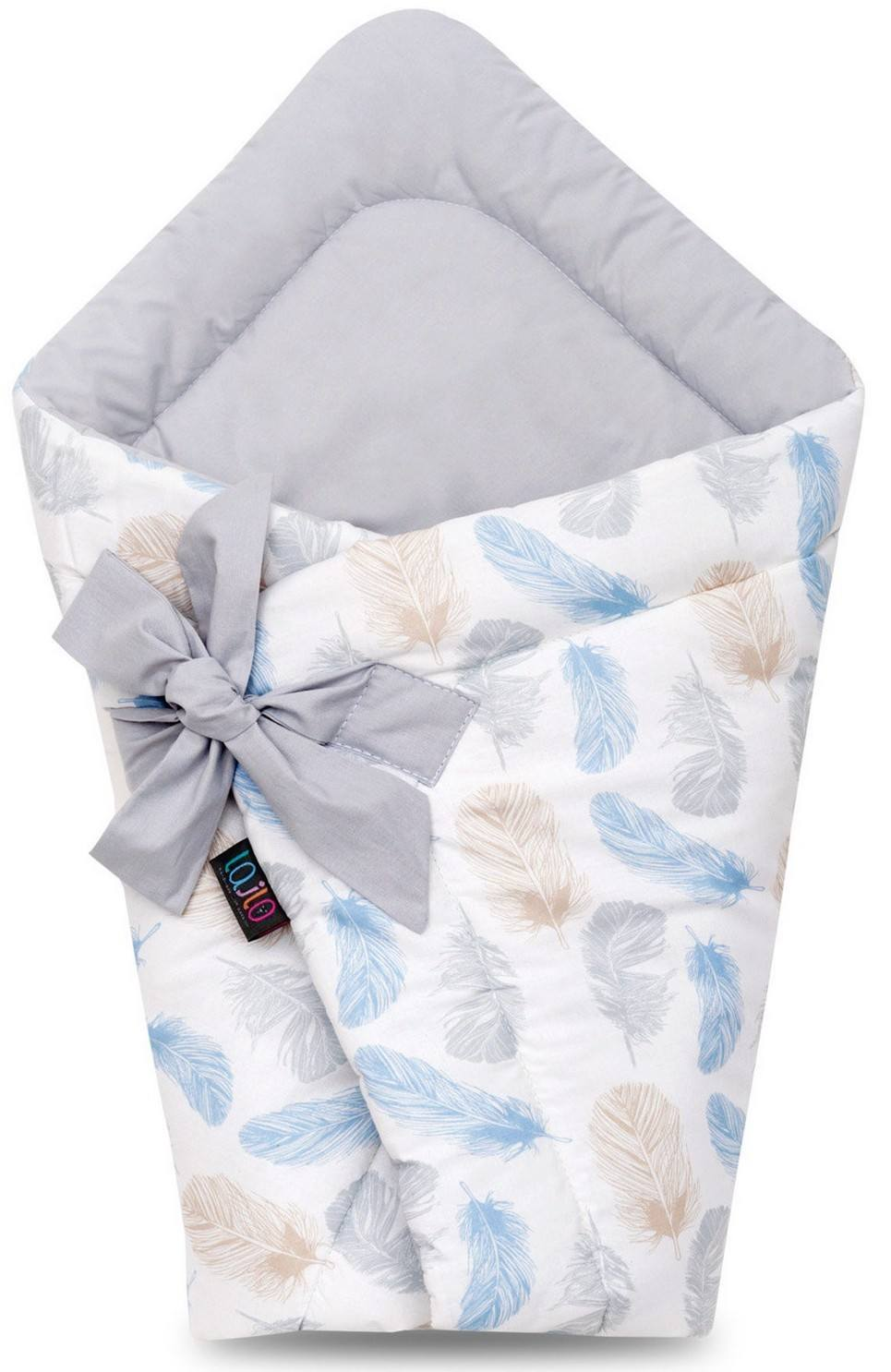 Blue Feather Baby Swaddle Blanket – 1