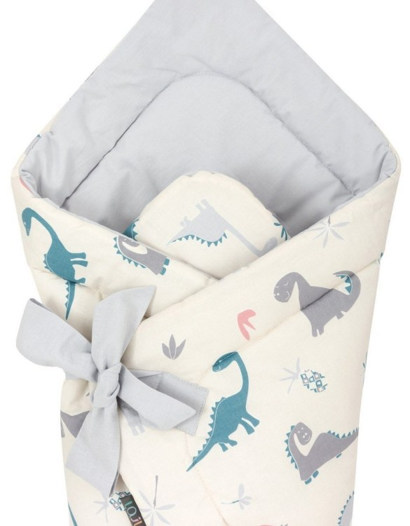 A delightful new-born baby or baby shower present, the Crazy Dino Swaddle Blanket makes a truly unique gift. Babies love to be cuddled from birth as it reminds them of the womb- an environment they spent a lot of time in while they developed.