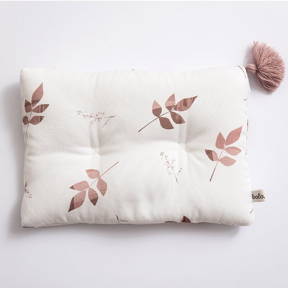 Dirty Pink Leaves Bamboo Baby Pillow