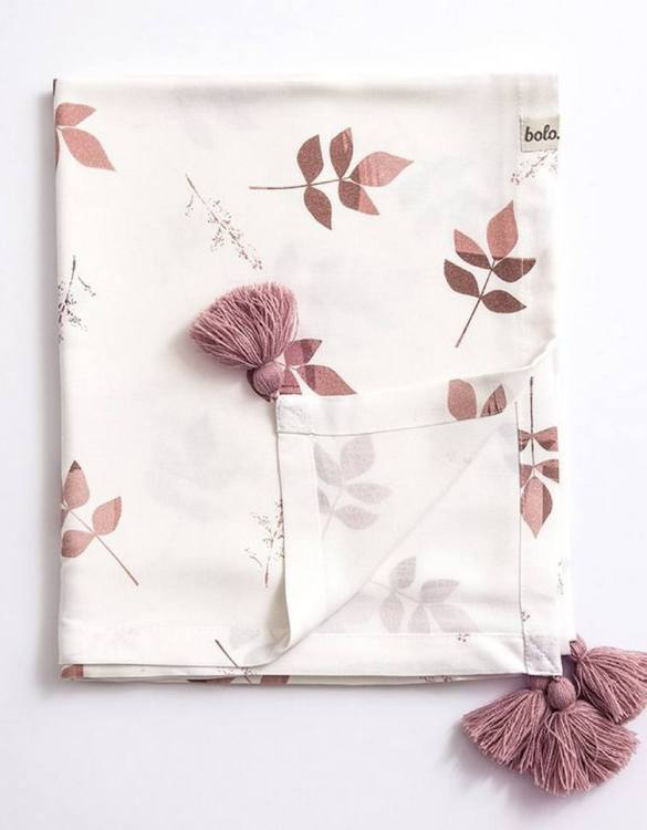 Giving a beautifully soft feel, the Dirty Pink Leaves Bamboo Swaddle Blanket is a lovely lightweight swaddle blanket for your little one. A gift that's sure to be spotted from all the rest.