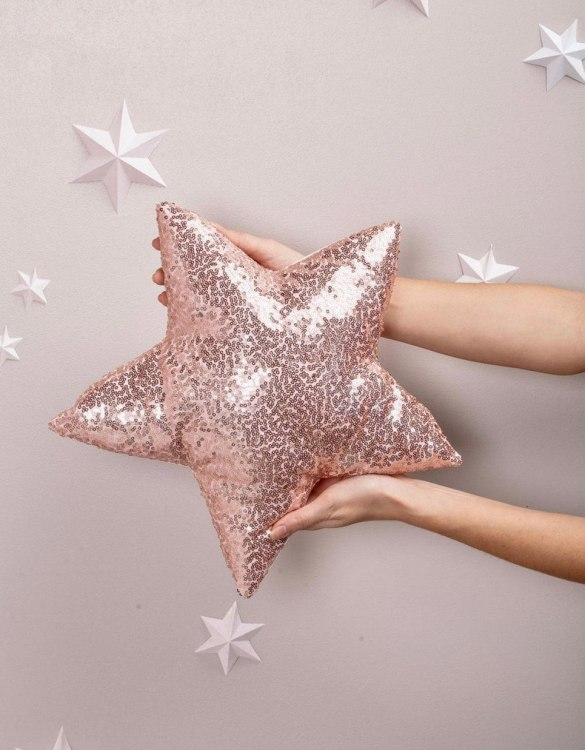 Completely handmade, the Light Pink Sequins Star Decor Pillow is the perfect gift to welcome the new addition. It's the perfect accessory for your sofa or armchair and with a choice of on-trend colours, you're bound to find a shade to suit your home.