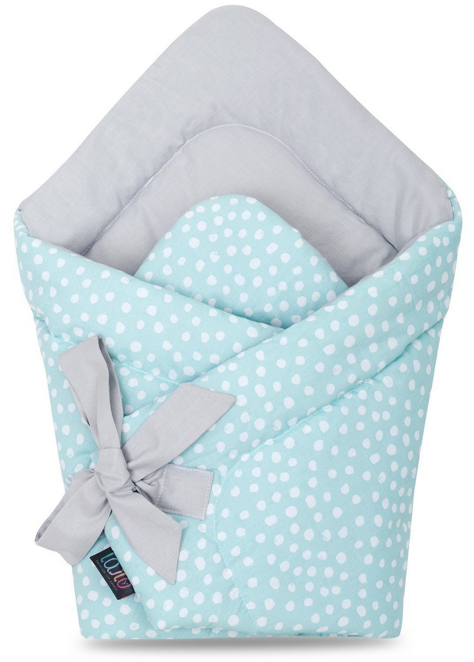 Mint Dotty Swaddle Blanket