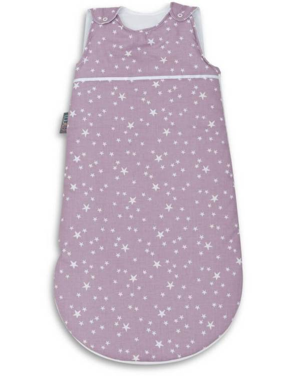 Cosy and beautifully designed, the Purple Stars Baby Sleeping Bag is perfect for bedtime and naps whether at home, abroad or visiting friends. Sleeping bags are a fantastic idea for wriggly babies.