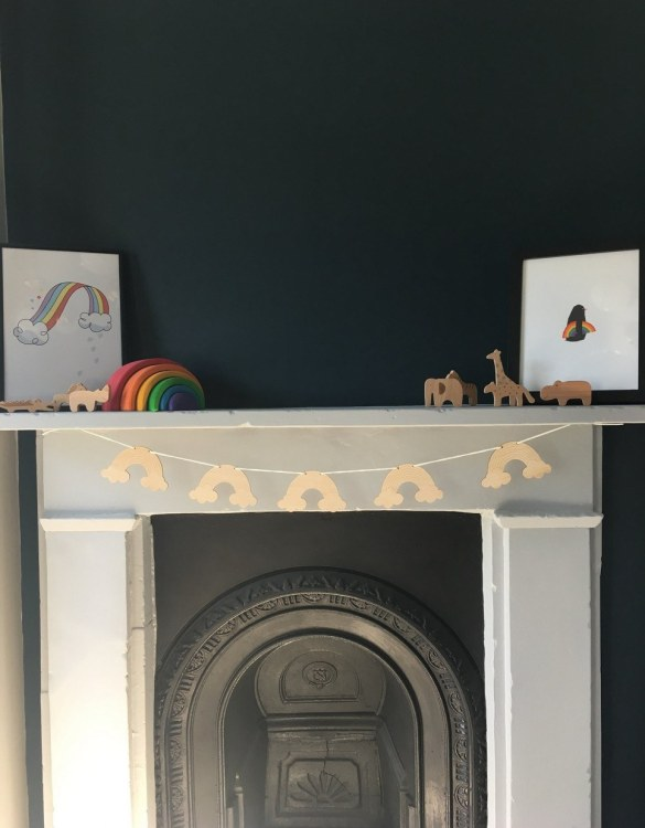 Add a fun finishing touch to a child's room with the Rainbow Wooden Garland. This unique rustic wooden garland makes a perfect finishing touch to a baby girls' bedroom or nursery.
