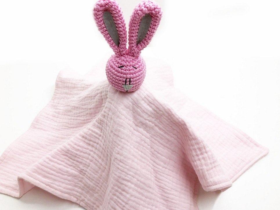 Pink Bunny Baby Comforter