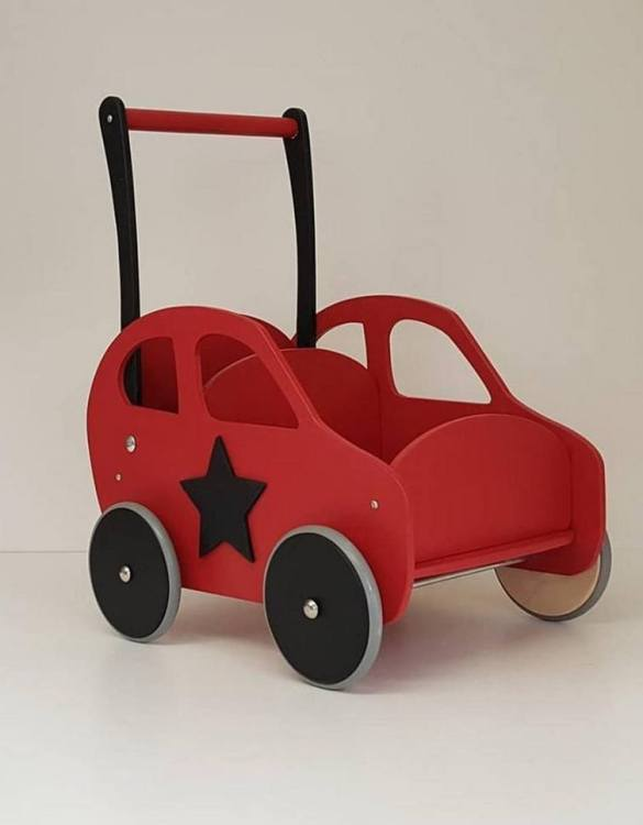 Colourful, fun and educational, the Red Personalised Wooden Baby Walker will satisfy the most demanding children. This will fulfill their innermost dreams. A personalized wooden walker in the shape of a car for children. Thanks to it, the child will learn to walk and will have fun at the same time.