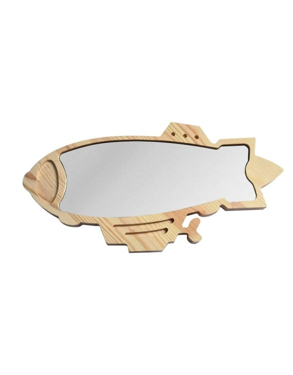 A modern design that will please you and your little one, the Big Solid Pinewood Mirror Airship fits perfectly in the nursery or kids' room. Safe and unbreakable acrylic mirror made of high-quality solid pinewood.
