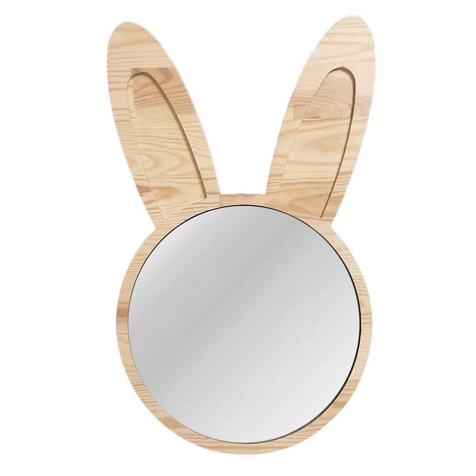 Big Solid Pinewood Mirror Bunny