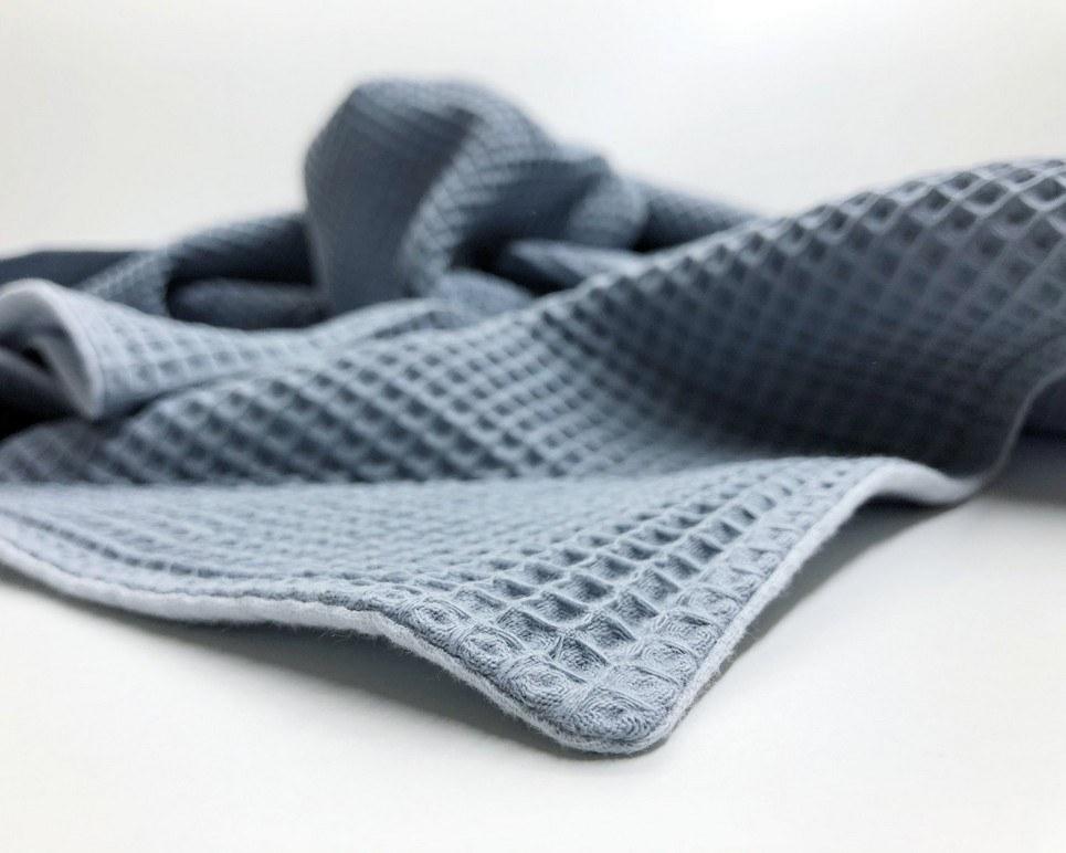 Grey Blue – Light Blue Waffle Blanket