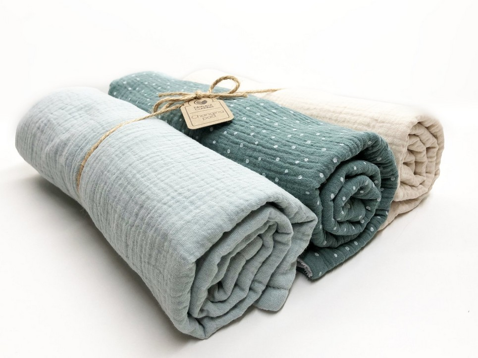 Set of 3 Green Changing Pads