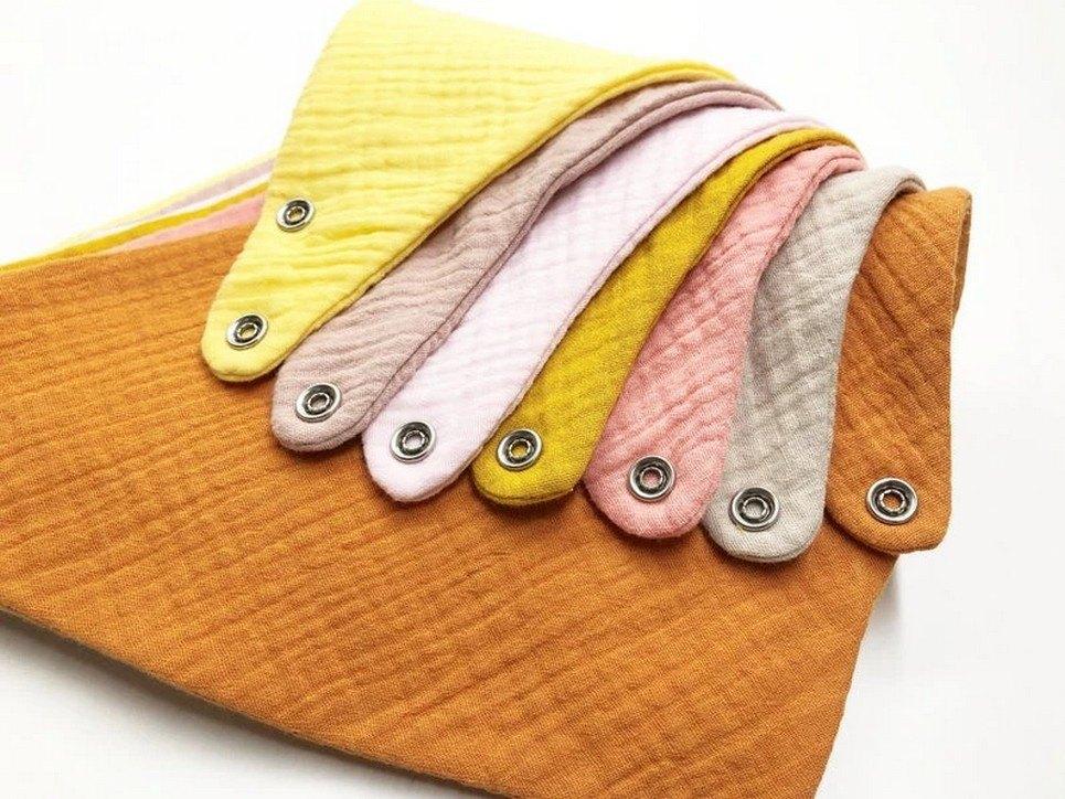 Set of 7 Yellow Baby Bandana Bibs – 1