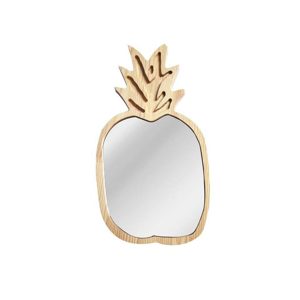 Solid Pinewood Mirror Pineapple