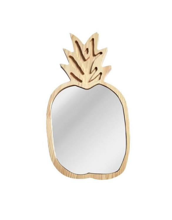 A modern design that will please you and your little one, the Solid Pinewood Mirror Pineapple fits perfectly in the nursery or kids' room. Safe and unbreakable acrylic mirror made of high-quality solid pinewood.