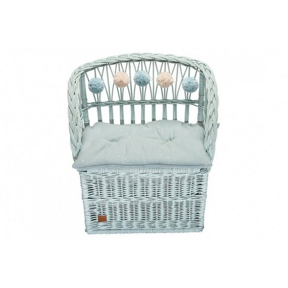 Dirty Mint Wicker Seat With Trunk