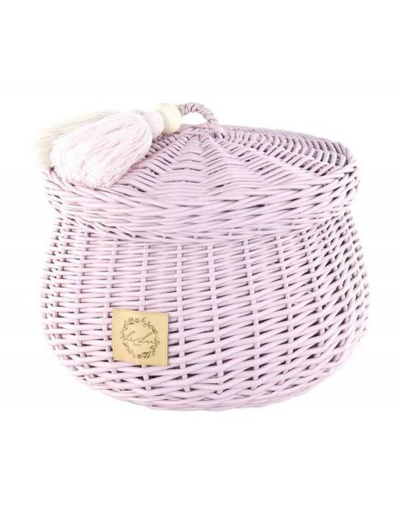 Sweet and simple, the Dirty Pink Wicker Casket with Tassels is perfect to fill with your child's favourite trinkets, or your own memories of your child's first moments. A beautiful wicker casket with tassels, carefully made by the best craftsmen, in three sizes.