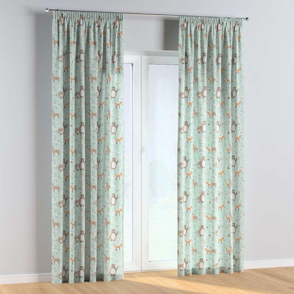 Forest Friends Pencil Pleat Kids Curtains