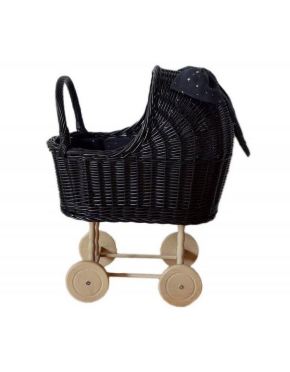 "Gorgeous wicker stroller for a doll, the Graphite High Wicker Doll Pram will be a favourite toy in no time. Such stroller is a great fun for every little ""mom"" and at the same time a 100% stylish, ecological and Polish toy."