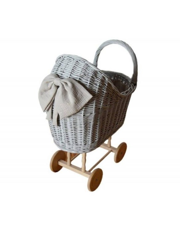 "Gorgeous wicker stroller for a doll, the Gray High Wicker Doll Pram will be a favourite toy in no time. Such stroller is a great fun for every little ""mom"" and at the same time a 100% stylish, ecological and Polish toy."