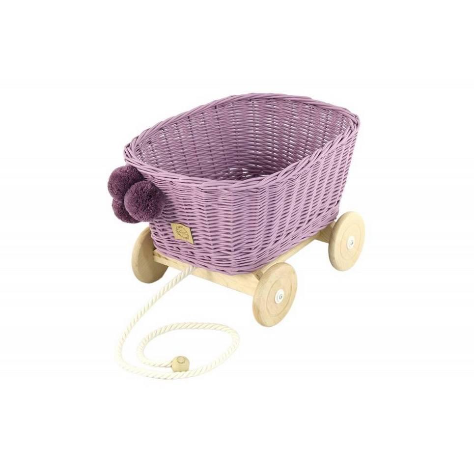 Heather Wicker Pull Cart