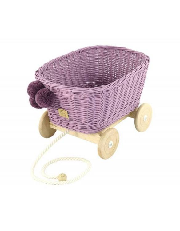 A healthy alternative to other toys, the Heather Wicker Pull Cart is an artistic handicraft with perfectly selected details. The wicker stroller will not only be a great toy, but also an extraordinary decoration for a child's room.