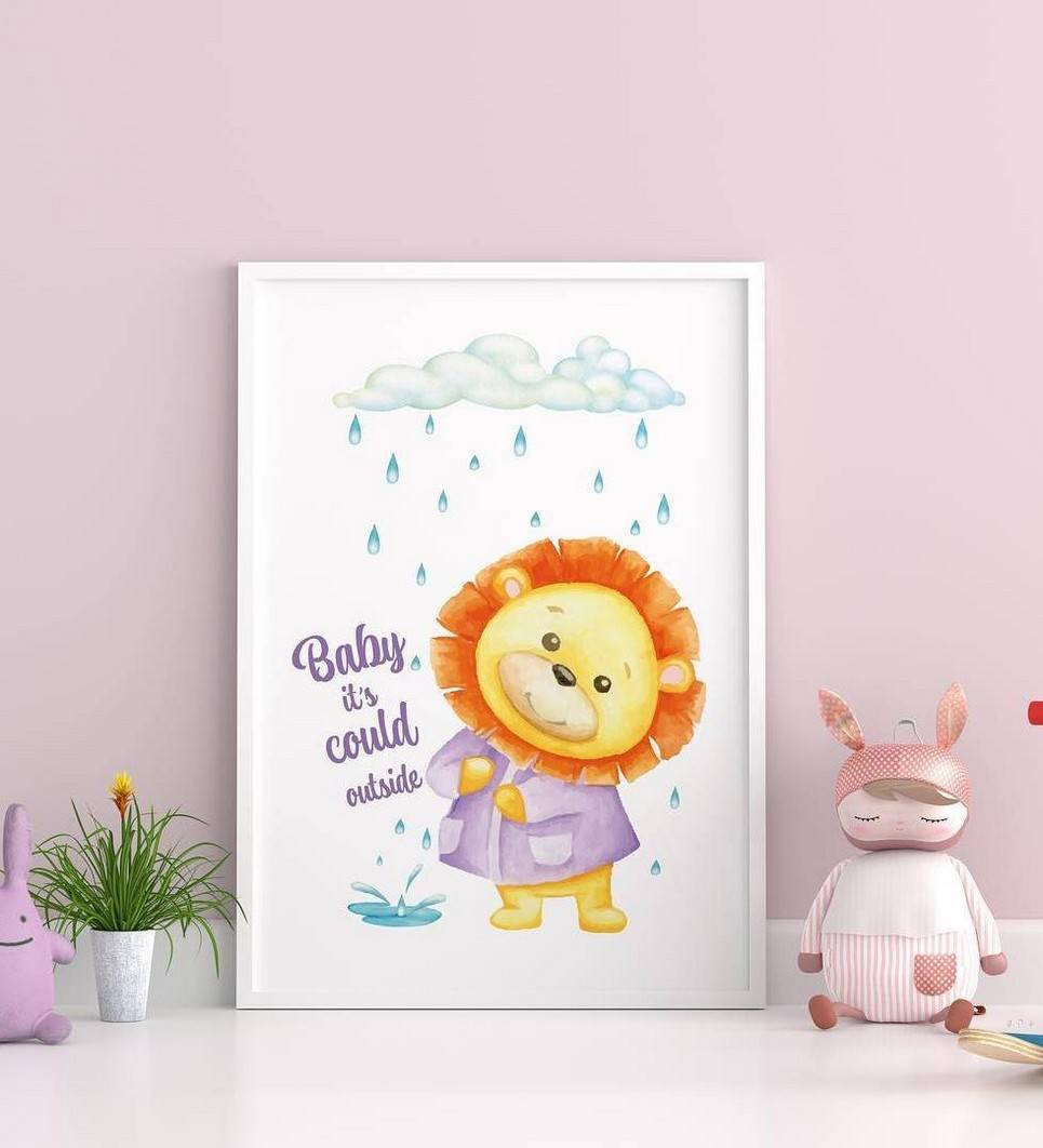 Little Lion Decorative Children Illustration