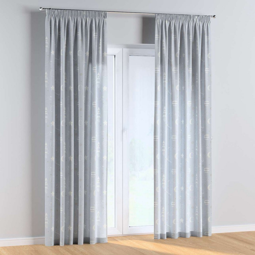 Lovely Universe Pencil Pleat Kids Curtains