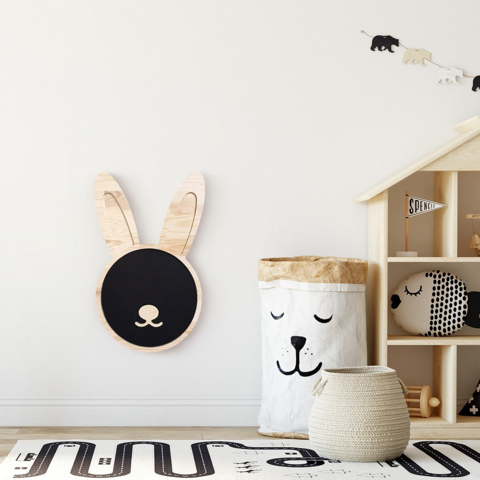 Magnetic Bunny Kids Chalkboard