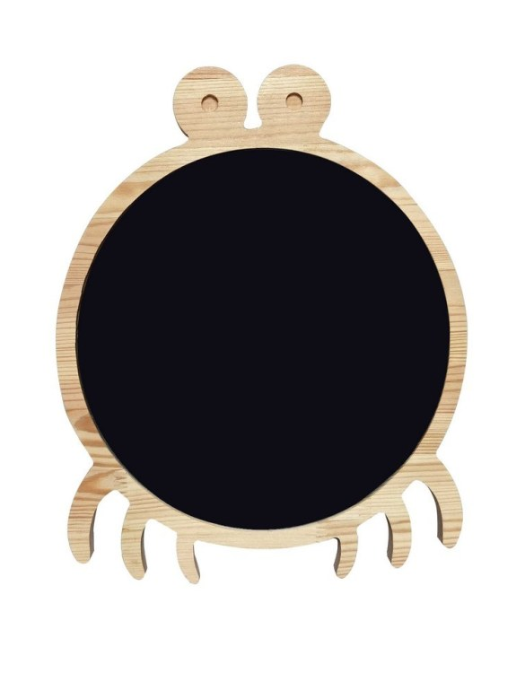 Spark artistic play with the Magnetic Crab Kids Chalkboard. Just the right height for growing artists, this children's chalkboard encourages creativity and allows little ones to develop their fine motor skills through painting, drawing, coloring, and writing.