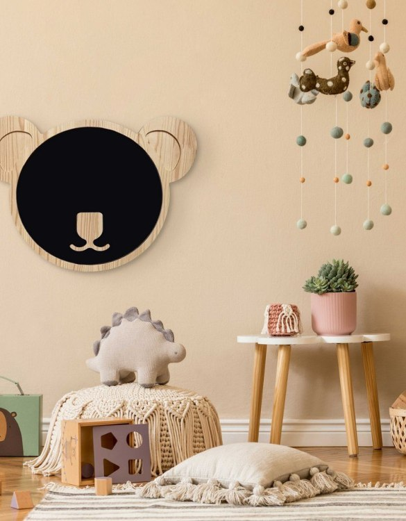 Spark artistic play with the Magnetic Koala Kids Chalkboard. Just the right height for growing artists, this children's chalkboard encourages creativity and allows little ones to develop their fine motor skills through painting, drawing, coloring, and writing.