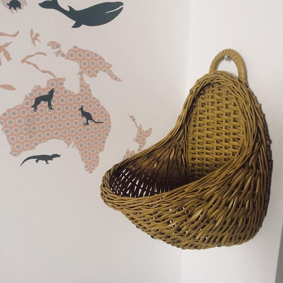 Mustard Maalum Wicker Wall Basket – 1