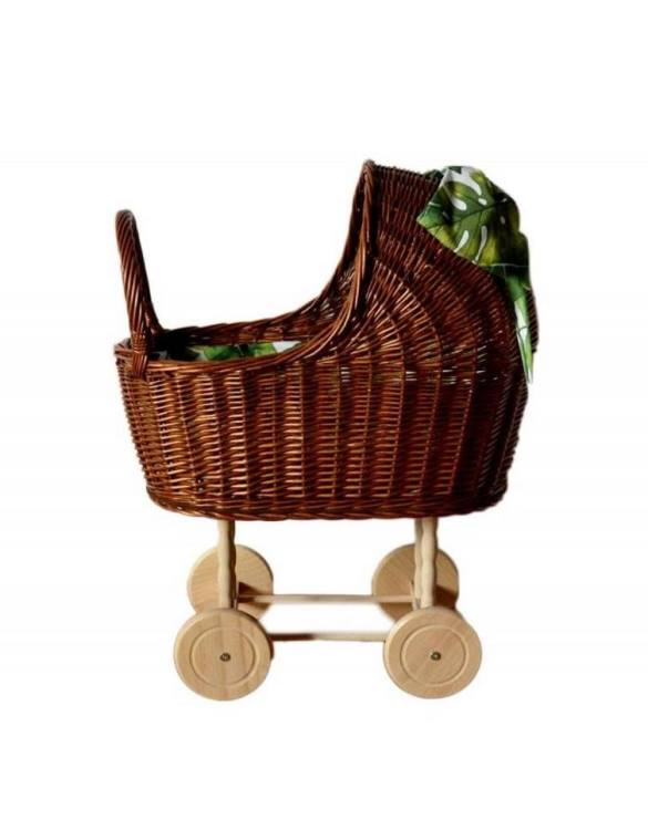 "Gorgeous wicker stroller for a doll, the Natural High Wicker Doll Pram will be a favourite toy in no time. Such stroller is a great fun for every little ""mom"" and at the same time a 100% stylish, ecological and Polish toy."