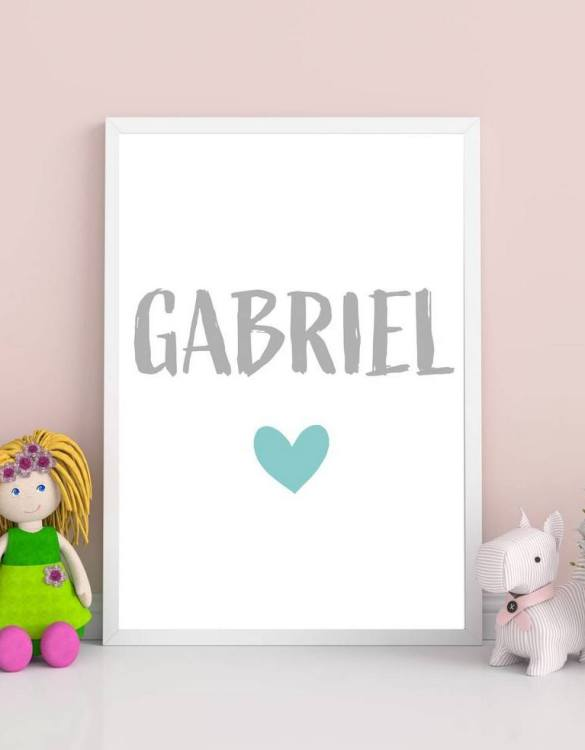 Perfect for a birthday or Christmas present, the Personalised Name Heart Children Illustration is a really unique and eyecatching print that is loved by kids and adults. This print would make an ideal new baby gift or a very sweet birthday present for a baby or toddler.