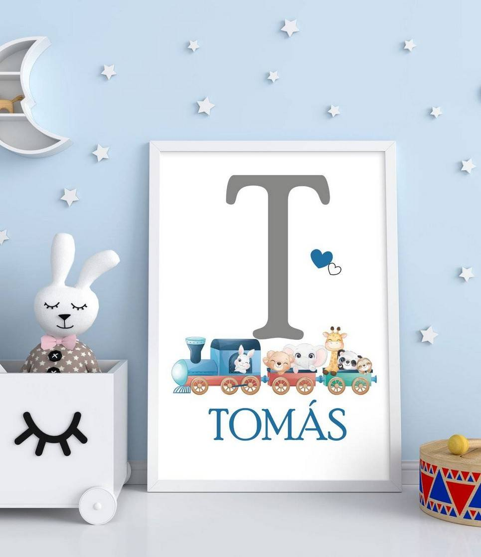 Personalised Name Initial Children Illustration