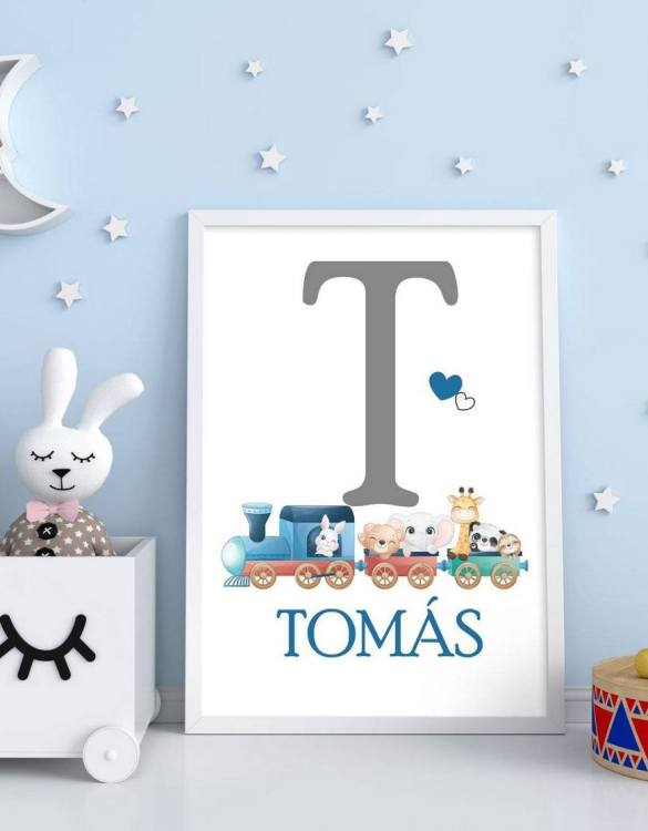 Perfect for a birthday or Christmas present, the Personalised Name Initial Children Illustration is a really unique and eyecatching print that is loved by kids and adults. This print would make an ideal new baby gift or a very sweet birthday present for a baby or toddler.