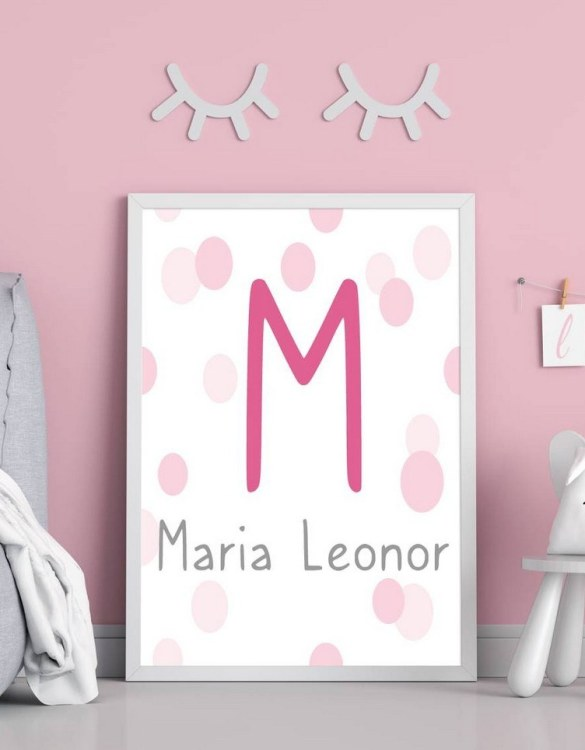 Perfect for a birthday or Christmas present, the Personalised Name Pink Initial Children Illustration is a really unique and eyecatching print that is loved by kids and adults. This print would make an ideal new baby gift or a very sweet birthday present for a baby or toddler.