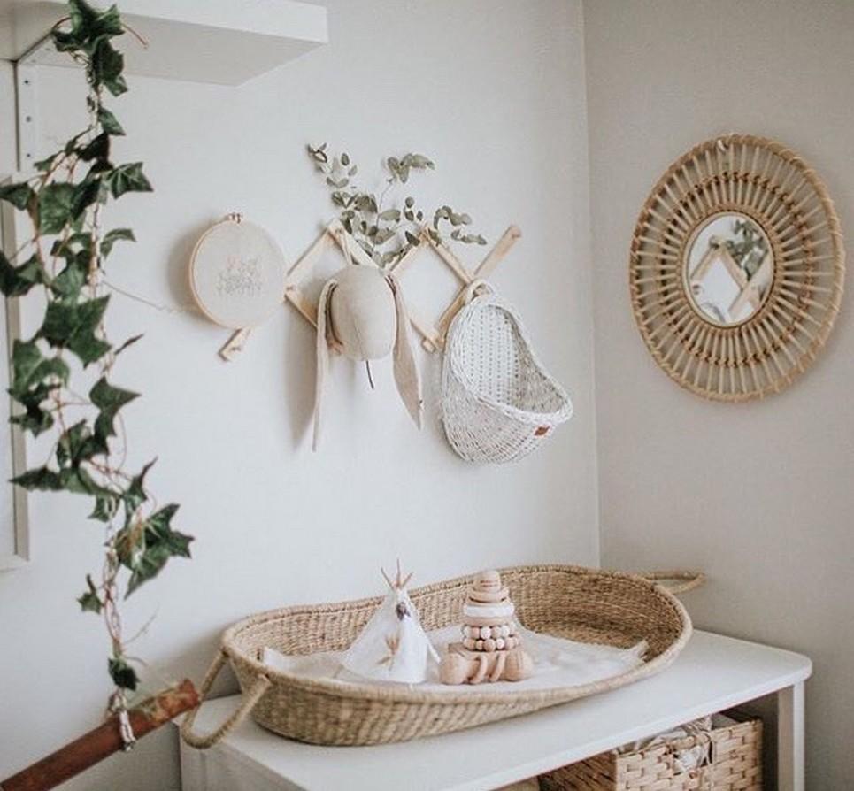 White Maalum Wicker Wall Basket – 2